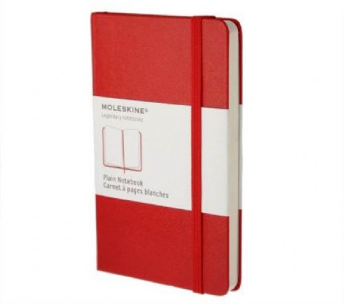Red Large Plain Notebook